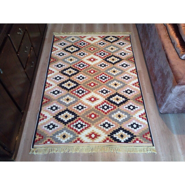 Reversible Kilim Inspired Rug - 3′11″ × 5′11″ - Image 3 of 11