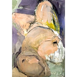Contemporary Abstract Expressionist Figurative Nude Mixed-Media Painting For Sale