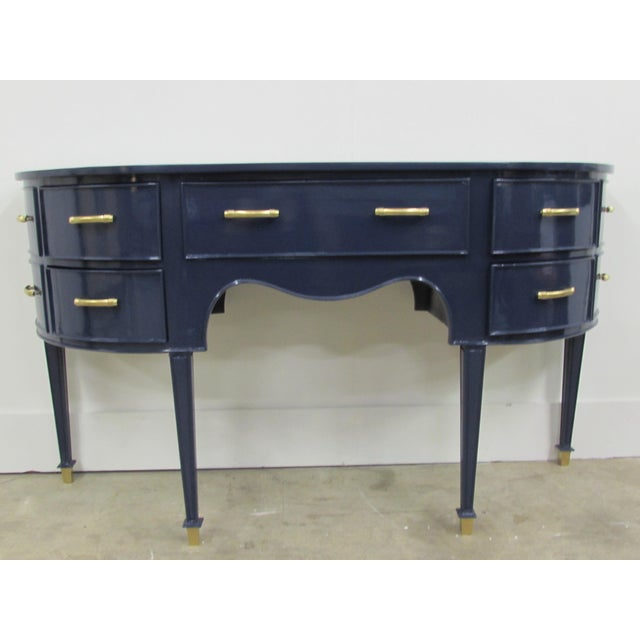 Old Navy Navy Blue Lacquered Mahogany Sideboard - Image 6 of 6
