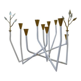 Daphne Gold Accent Candleholder For Sale