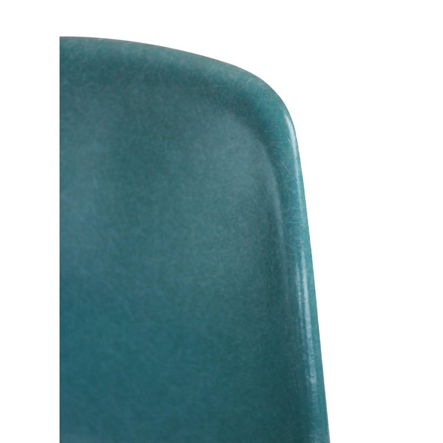 Turquoise Herman Miller Fiberglass Eames Shell Chair For Sale - Image 6 of 9