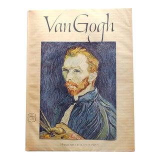 1950s Vintage Van Gogh Art Book Including 16 Prints For Sale