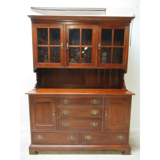 Stickley Furniture Cherry Chippendale China Cabinet For Sale - Image 11 of 11