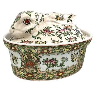 Pink Rabbit Lidded Bowl For Sale
