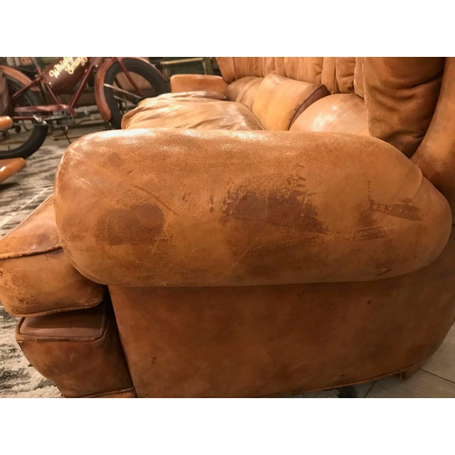 Large Leather Sofa For Sale - Image 9 of 11