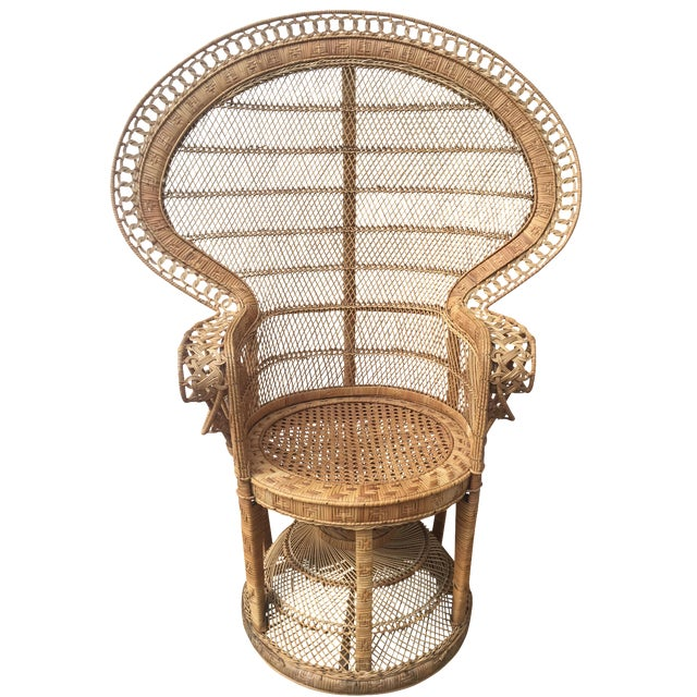 Vintage Peacock Chair - Image 1 of 10