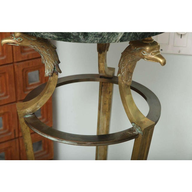 1950s Pair of Maison Jansen Bronze and Marble Pedestals For Sale - Image 5 of 9