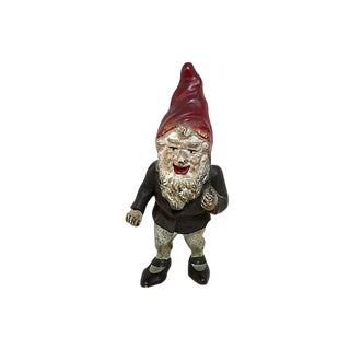 1920s Vintage Cast Iron Gnome Doorstop