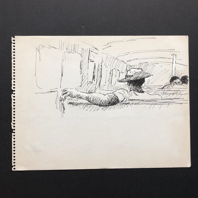 From the estate of Hayward Cirker (1917-2000) founder of Dover Publications. Cirker sketched frequently during his travels...