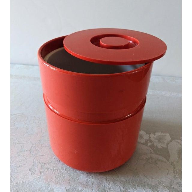 1970s Vintage Orange Heller Ice Bucket by Sergio Asti For Sale - Image 5 of 9
