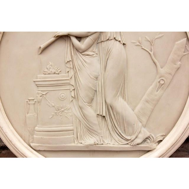 Traditional Classical Greek Architectural Roundel Sculpture For Sale - Image 3 of 4