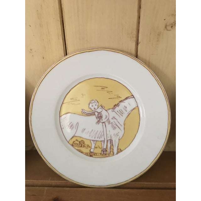 Ceramic Vintage Hermès 6-Piece Dinner Plate Set For Sale - Image 7 of 10