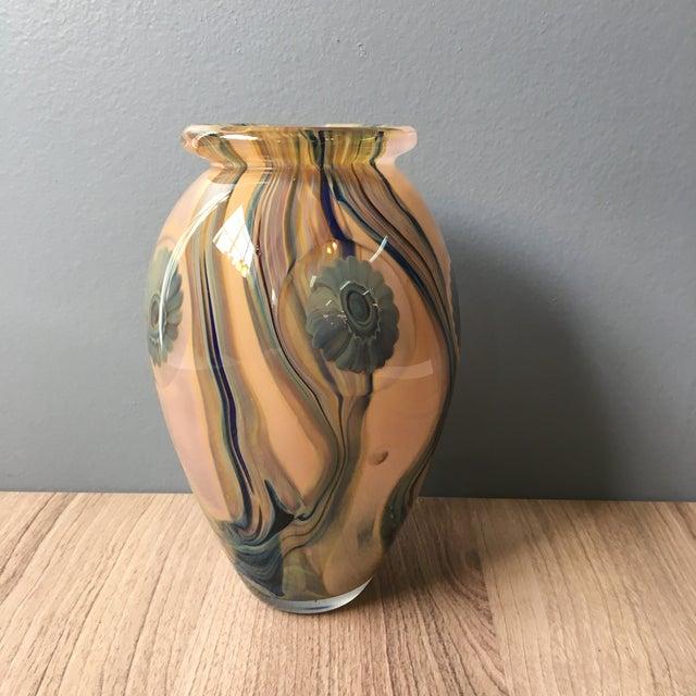 2006 Robert Eickholt Studio Art Glass Vase For Sale - Image 4 of 7