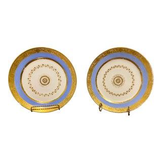Early 19th Century Paris Porcelain Plates by Louis Marie Francois Rihouet - a Pair For Sale