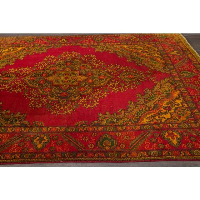 "Apadana - Vintage Persian Overdye, 6'3"" x 9'7"" For Sale In New York - Image 6 of 6"