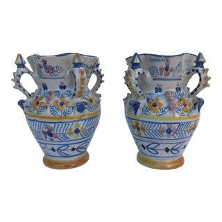 Montalvan Ceramic Vases - a Pair For Sale