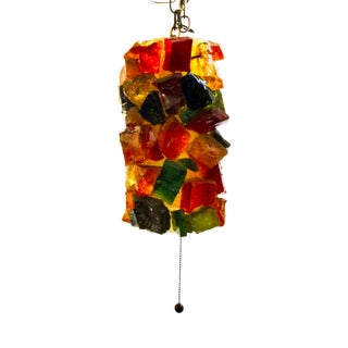 Epoxy Art Brut Pendant Lantern For Sale
