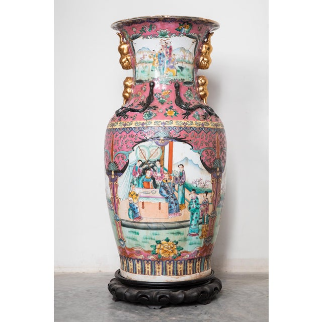Ceramic Large Antique Chinese Vases for the Floor Modern Decor Decorative Living Room For Sale - Image 7 of 7