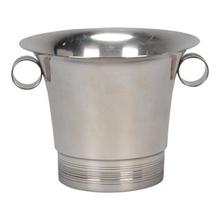 1950s Silver Plate Wine Cooler For Sale