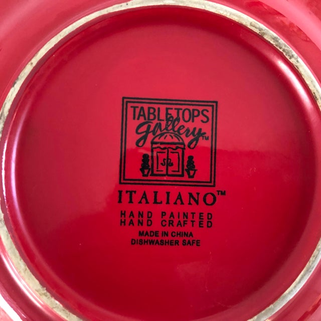 """Contemporary """"Tabletops Gallery ITALIANO""""Hand Painted Salad Plates S/3 For Sale - Image 4 of 5"""
