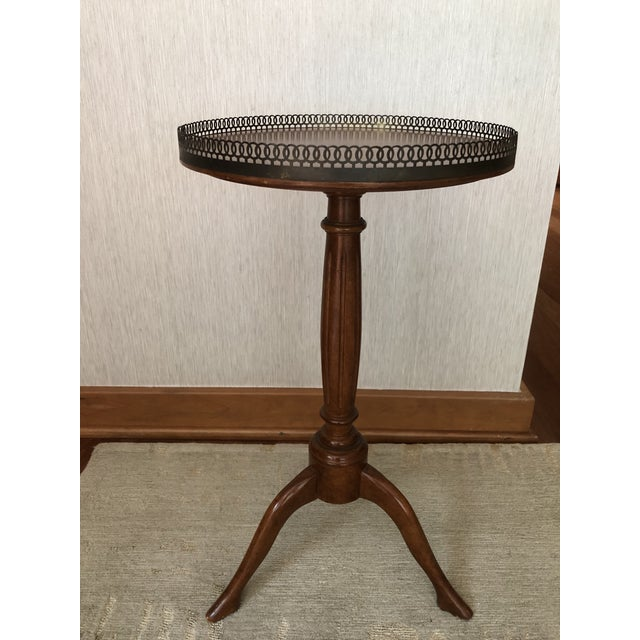 Traditional Traditional Wood Drink/Gueridon Tables - a Pair For Sale - Image 3 of 8