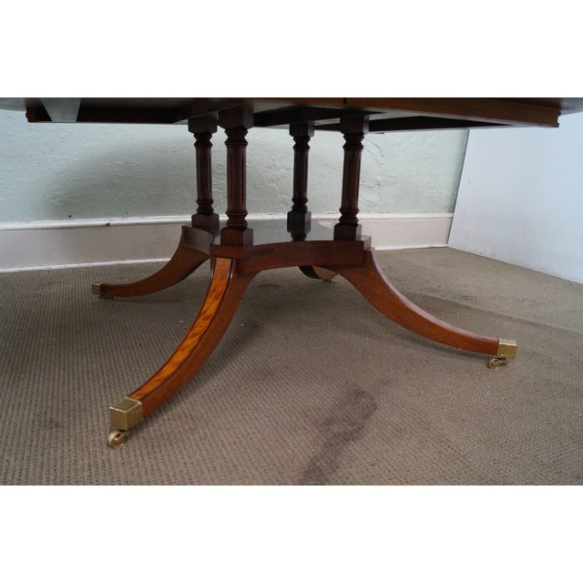 Flame Mahogany Duncan Phyfe Extension Dining Table - Image 2 of 10
