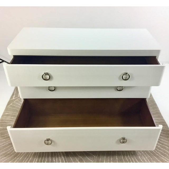 Art Deco Bungalow 5 Montclair White Three Drawer Chest For Sale - Image 3 of 8