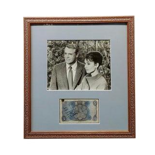 1950s Original Cary Grant & Audrey Hepburn Photograph with Autograph For Sale
