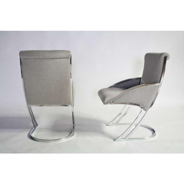 Set of Four Chrome Dining Chairs For Sale In Chicago - Image 6 of 9