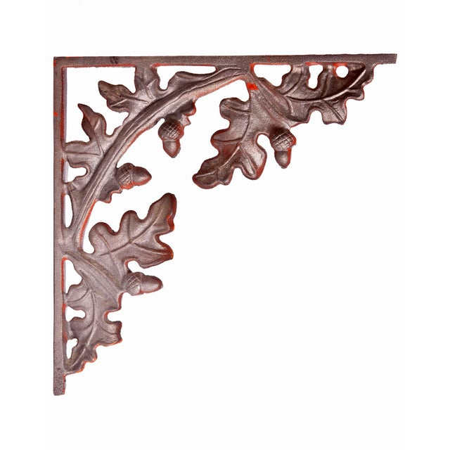 Brown 1990s Cabin Leaf Brackets - Set of 4 For Sale - Image 8 of 9