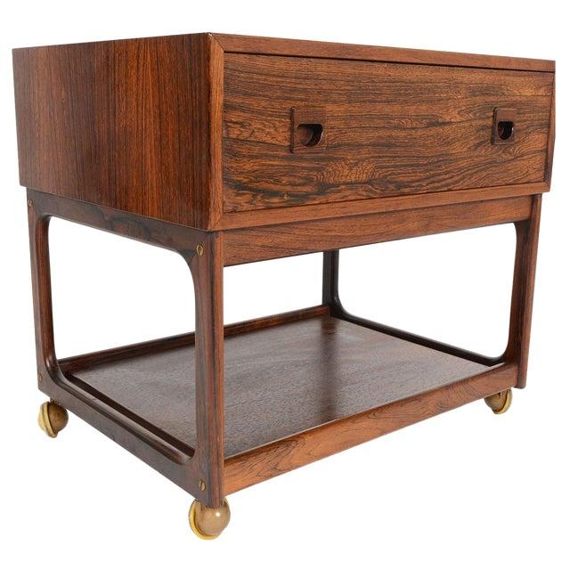 Danish Modern Rosewood Sewing Box - Image 1 of 10