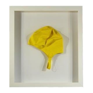 Framed Vintage Yellow Swim Cap