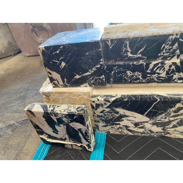 19th Century Black Marble Entryway Shelf/Fireplace Surround For Sale - Image 11 of 13
