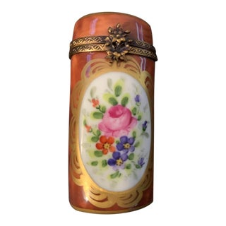 Early 20th Century Limoges Peint Main Box For Sale