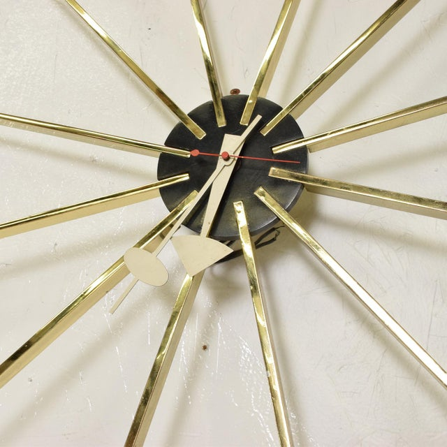 1960s Mid Century Modern Wall Clock by George Nelson for Howard Miller For Sale - Image 5 of 8