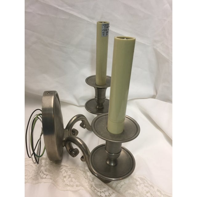 Chrome Wall Sconces a Pair For Sale In San Francisco - Image 6 of 7