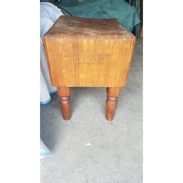 Early 20th Century Antique Butcher Block For Sale - Image 13 of 13