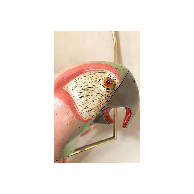 Papier Mache Parrot On Perch For Sale In Miami - Image 6 of 8