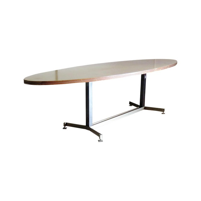 20th Century Italian Techno Style Dining Table For Sale - Image 9 of 9