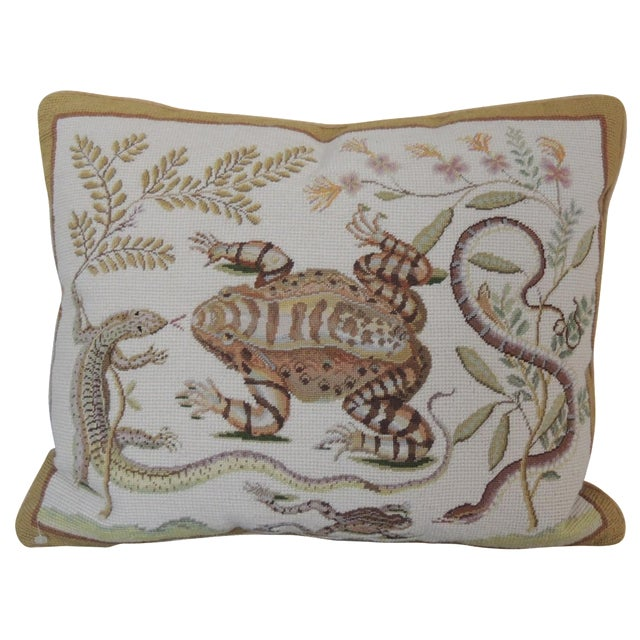 Chelsea Textiles Amphibian Tapestry Pillow - Image 1 of 4