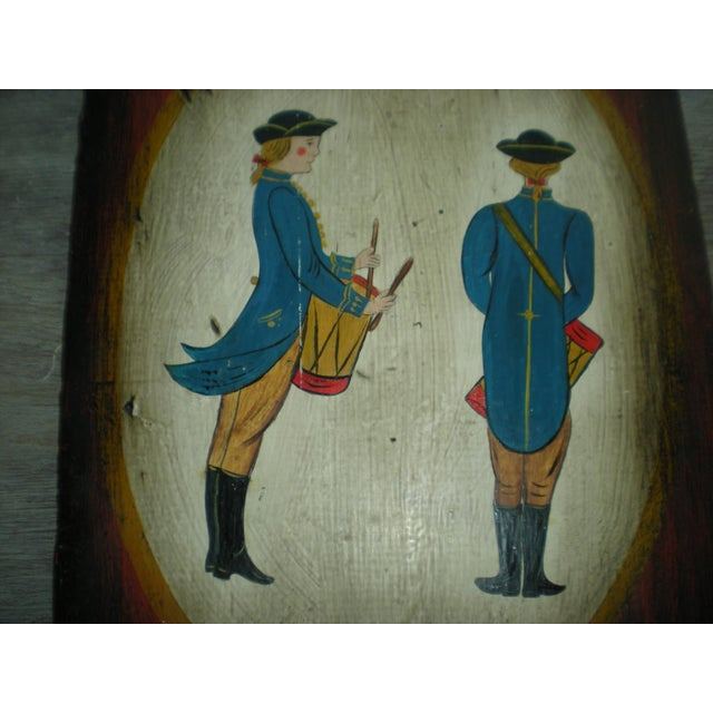 Vintage Painted Soldier Painting - Image 3 of 5