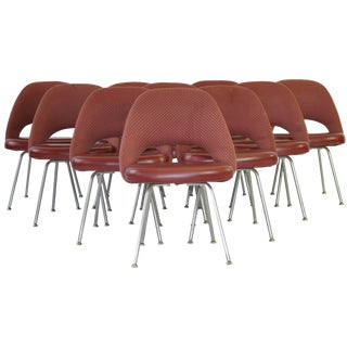 Set of Ten Vintage Eero Saarinen Chairs for Knoll For Sale