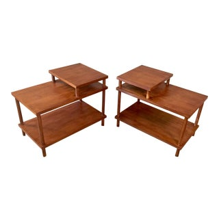T.H. Robsjohn-Gibbings Tiered End Tables - A Pair For Sale