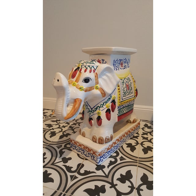 Ceramic Elephant Side Tables - A Pair - Image 9 of 11