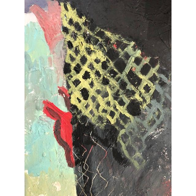 "Willem de Kooning Vintage Oil Painting ""Without Help"" Impasto Large For Sale - Image 4 of 9"