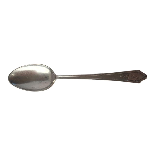 Art Deco Style Sterling Silver Demitasse Spoon - Image 1 of 6