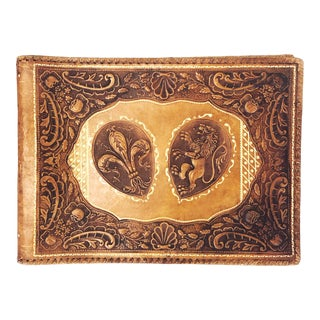 Antique Tooled Leather Memory Book For Sale