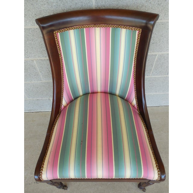 Hickory Chair Regency Style Mahogany Accent Chairs - A Pair For Sale - Image 10 of 11