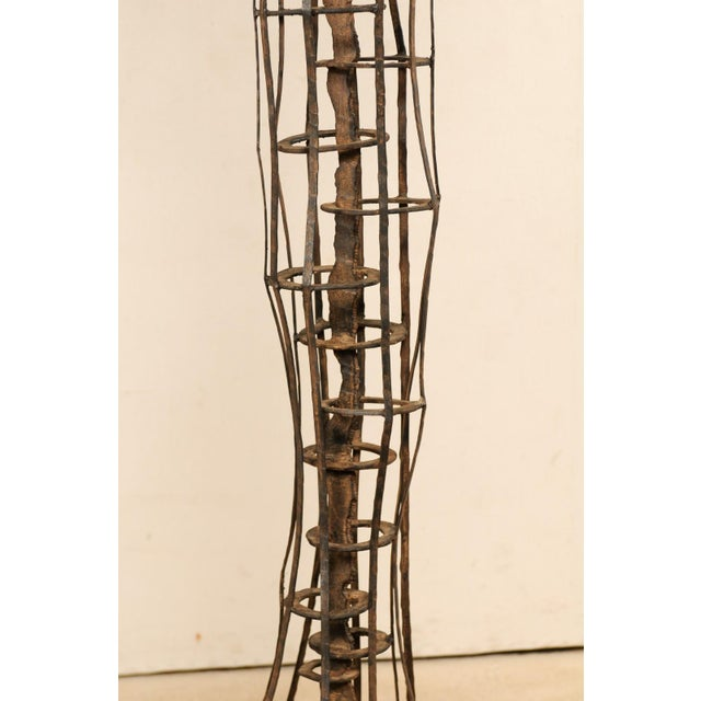 Tall French Sculptural Iron Abstract Art Piece, Circa 1930s-1940s For Sale - Image 10 of 12