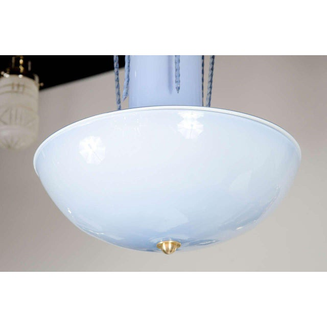 Mid-Century Modern Mid-Century Modernist Handblown Murano Glass 'Fountain' Chandelier For Sale - Image 3 of 7